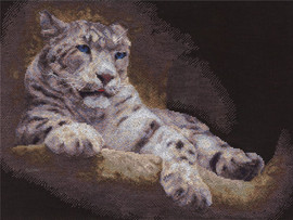Snow Leopard Counted Cross Stitch Kit By Panna