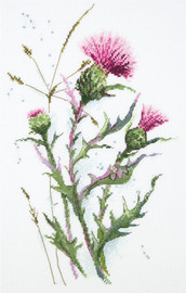 Thistle Counted Cross Stitch Kit By Panna