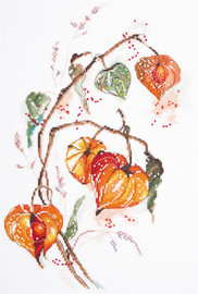 Physalis Counted Cross Stitch Kit Code By Panna