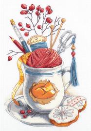 Crafters Mug Counted Cross Stitch Kit By Panna