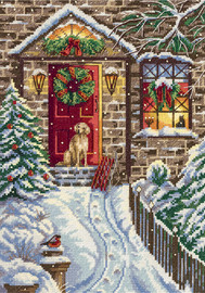 Christmas Eve Door Counted Cross Stitch Kit By Panna
