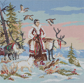 Mistress of the Tundra Counted Cross Stitch Kit By Panna