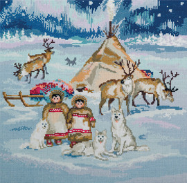 The Starry Country Counted Cross Stitch Kit By Panna