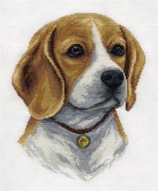 Beagle Counted Cross Stitch Kit By Panna