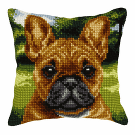 Dog Cross Stitch Large Cushion Kit by Orchidea