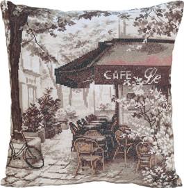 Paris Café Cushion Counted Cross Stitch Kit by Panna