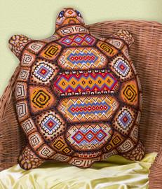 Tortoise Cushion Counted Cross Stitch Kit By Panna