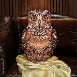 Owl Cushion Counted Cross Stitch Kit By Panna
