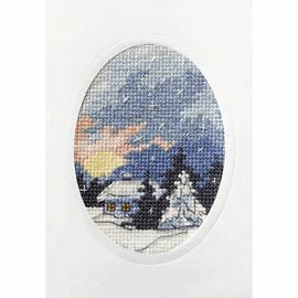 Moonlit Cottage Greetings Card Cross Stitch Kit