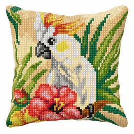 Parrot Large Cushion Cross Stitch Kit by Orchidea