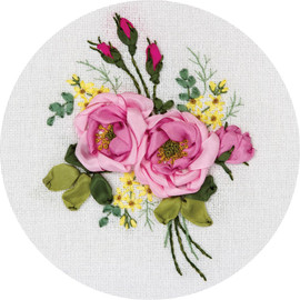 Gentle Fragrance Ribbon Embroidery Kit By Panna