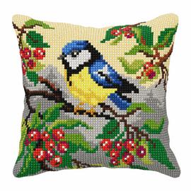 Blue Tit Large Cushion Cross Stitch Kit by Orchidea
