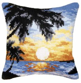 Sunset Cross Stitch Large Cushion Kit by Orchidea