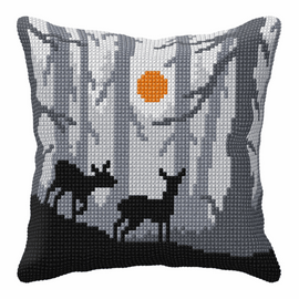 Forest in the Night Cross Stitch Large Cushion Kit by Orchidea