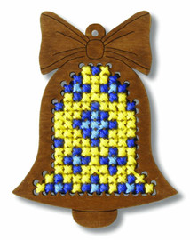 Plywood Ornament Bell Cross Stitch Kit by Orchidea