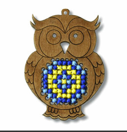Plywood Ornament Owl Cross stitch Kit by Orchidea