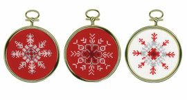 Set of 3 Ice Star Miniatures Counted Cross Stitch Kit by Vervaco