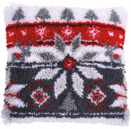 Scandinavian Star Cushion Latch Hook Kit by Vervaco