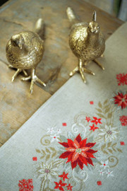 Christmas Runner Embroidery Kit by Vervaco