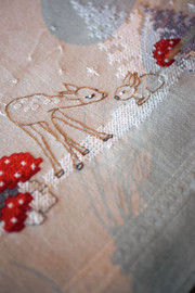 Winter Christmas Landscape Tablecloth Embroidery Kit by Vervaco