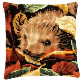 Hedgehog Cushion Chunky Cross Stitch Kit by Vervaco