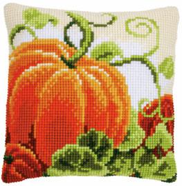 Pumpkins Cushion Chunky Cross Stitch Kit by Vervaco