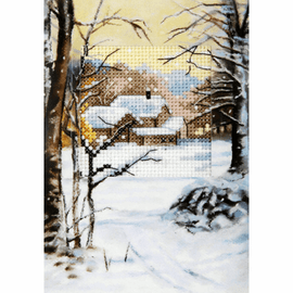 Winter Cross stitch Card Kit by Orchidea