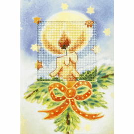 Candle Cross Stitch Card Kit by Orchidea
