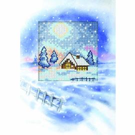 Winter Landscape II Cross Stitch Card Kit by Orchidea