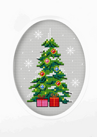Christmas Tree Cross Stitch Card Kit by Orchidea