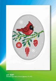 Cardinal Cross Stitch Card Kit by Orchidea
