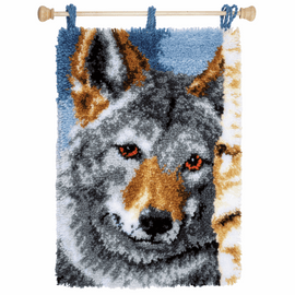 Wolf Latch hook rug kit by Vervaco