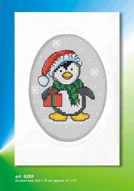 Penguin Cross Stitch Card Kit By Orchidea