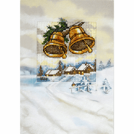 Christmas Bells Cross Stitch Card Kit by Orchidea