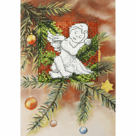 Angel Greeting Card Cross Stitch Kit by Orchidea