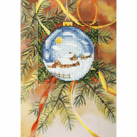 Pretty Bauble Cross Stitch Card Kit By orchidea