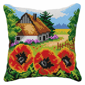 Countryside Poppies Chunky Cross Stitch Kit by Orchidea