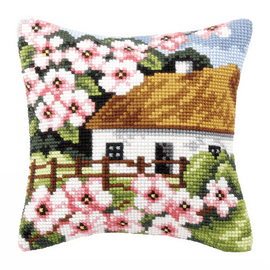 House with Flowers Chunky Cross Stitch Kit by Orchidea