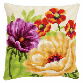 Summer chunky cross stitch cushion kit by Vervaco