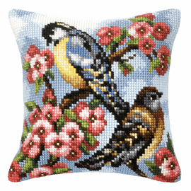 Two Birds Chunky Cross Stitch Kit by Orchidea