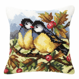 Two Blue Tits Chunky Cross Stitch Kit by Orchidea