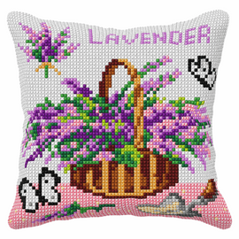 Lavender Cross Stitch Cushion Kit (Quickpoint Pillow Cover Kit)