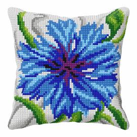 Cornflower Large Cushion Cross Stitch Kit By Orchidea