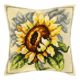Sunflower Large Cushion Cross Stitch Kit By Orchidea