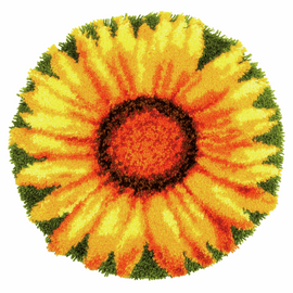 Sunflower Shaped Rug Latch Hook Kit By Vervaco