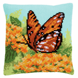 Beauty of Nature  Cushion Cross Stitch Kit By Vervaco