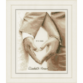 Heart of the Newlyweds Cross Stitch Kit by Vervaco