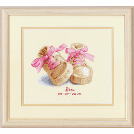 Baby Shoes Cross Stitch Kit by Vervaco