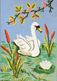 Serene Swan Tapestry Canvas Kit by Gobelin-L