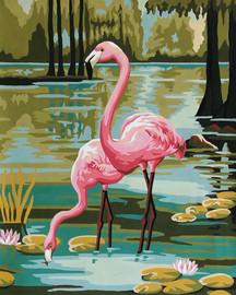 Flamingos Tapestry Canvas Kit by Gobelin-L